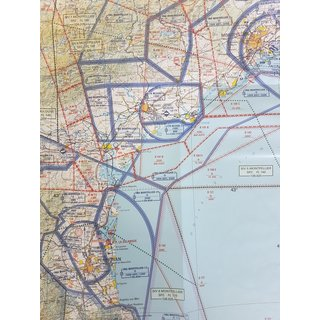 France North-East ICAO Chart - Paper, folded