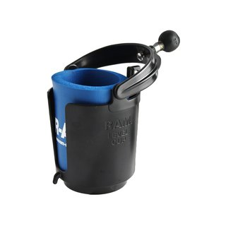 RAM Self-Leveling Cup Holder with 1 Ball & Cozy