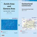 Set ICAO Chart Switzerland and area chart Zurich and Geneva