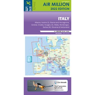 Alpen und Italien Air Million Karte VFR