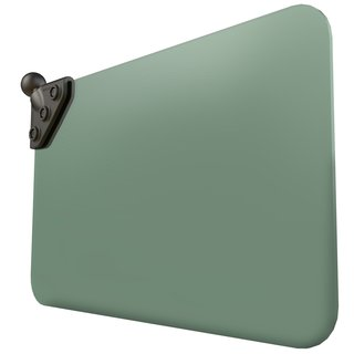 RAM Dark Green Sun Visor with 1? Ball: 50% Tint